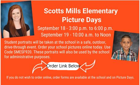 Picture Days Sept 18th & 19th